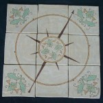 Compass Rose floor inset