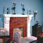 Terra Cotta Grape Fireplace